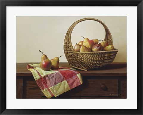 Framed Still Life With Pears Print