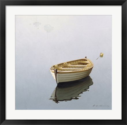 Framed Boat Shadow Print