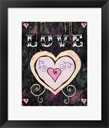Framed Heart - Love Print