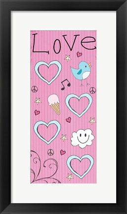 Framed Love Panel - Pink Print