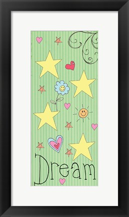Framed Dream Panel - Green Print