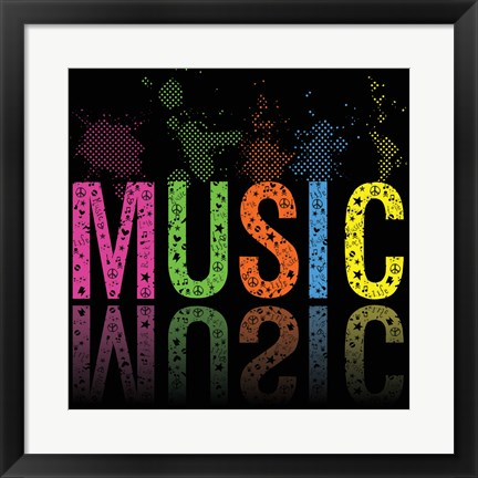 Framed Music 2 Print