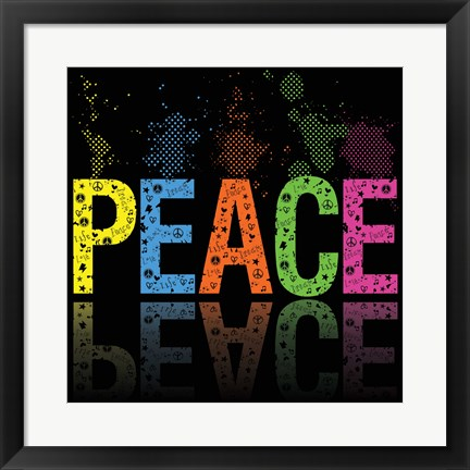 Framed Peace 5 Print