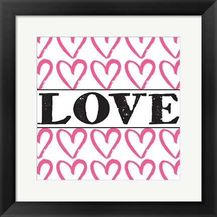 Framed Love - Pink Sharpie Print