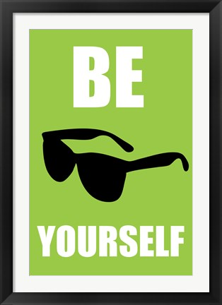 Framed Be Yourself - Green Print