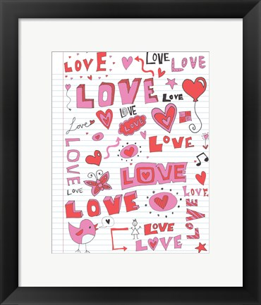 Framed Love Notes Print
