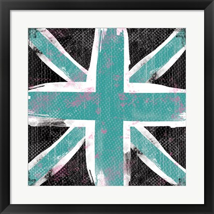 Framed Union Jack Blue and Black Print