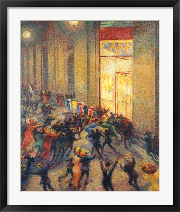 Framed Riot in the Gallery, 1910 Print
