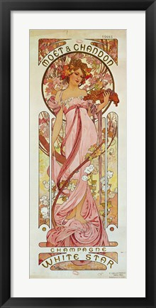 Framed White Star Champagne, Moet et Chandon, 1889 Print