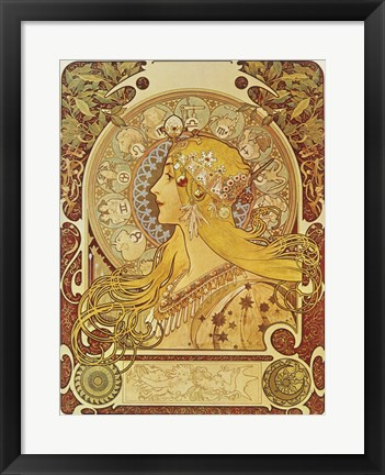 Framed Zodiac Signs Print