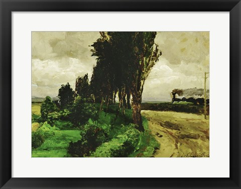 Framed Railway in a landscape, 1890-95 Print