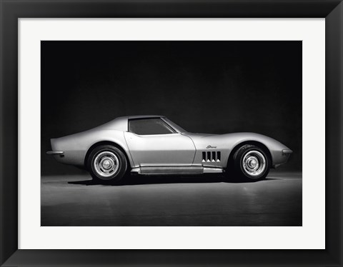 Framed Corvette Stingray Print
