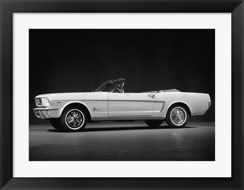 Framed Ford Mustang Convertible, 1964 Print