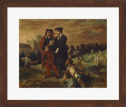 Framed Hamlet and Horatio in the Cemetery Print