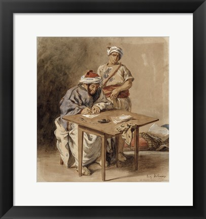 Framed Moroccan Public Scribe Print
