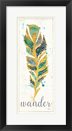 Framed Waterfeathers II Print