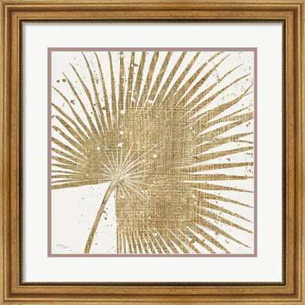 Framed Gold Leaves II Print