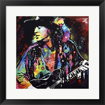 Framed Stevie Ray Vaughan Print
