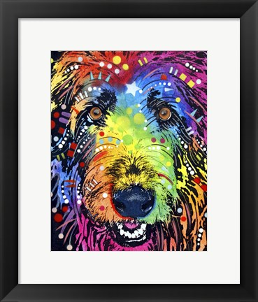Framed Irish Wolfhound Print