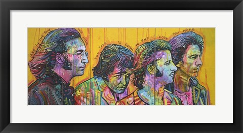Framed Beatles Pano Print