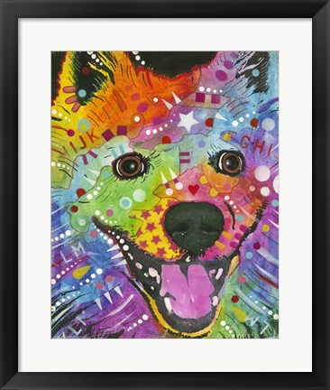 Framed Happy Dog Print