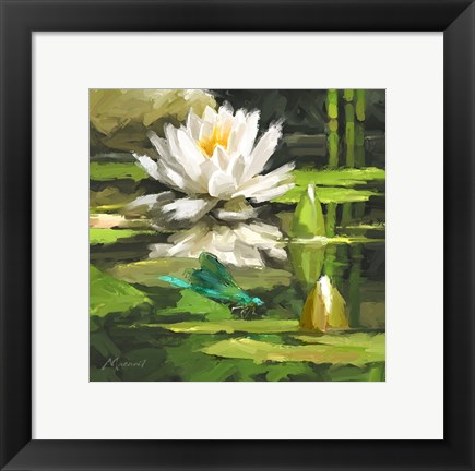 Framed Water Lilly Print