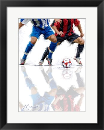 Framed Football 1 Print