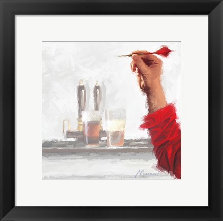 Framed Darts Player Print