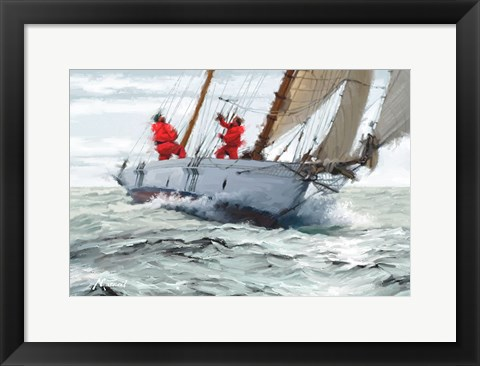 Framed Racing Yacht Print