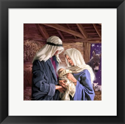 Framed Mary And Joseph Print
