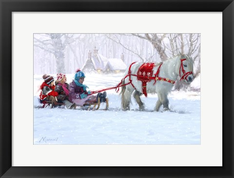 Framed Chrimas Pony Ride Print