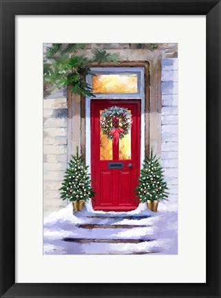 Framed Xmas Red Door 2 Print