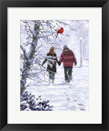 Framed USA Strolling Couple Print