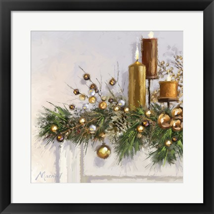 Framed Gold Candles 2 Print