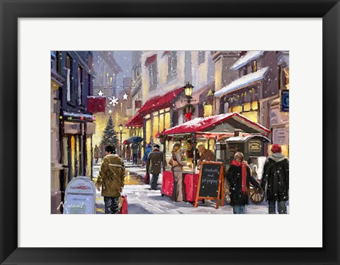 Framed Chestnut Seller Print