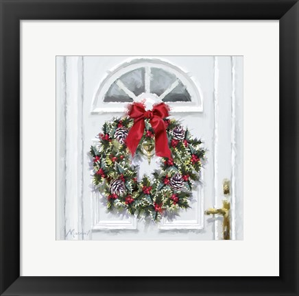 Framed Traditional Wreath Print