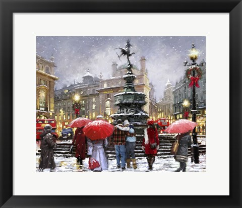 Framed Piccadilly In Snow Print