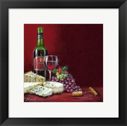 Framed Wine And Cheese Print