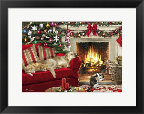 Framed Sleeping Pets Print