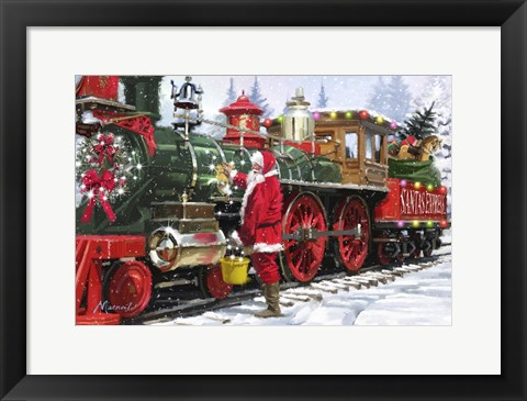 Framed Santa's Train 1 Print