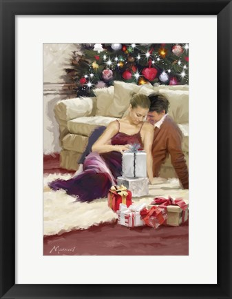 Framed Couple Xmas Print
