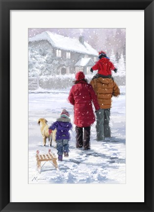 Framed Family Walk Print