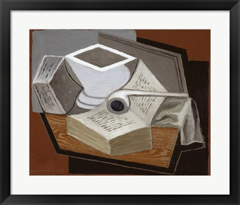 Framed Open Book, 1925 Print