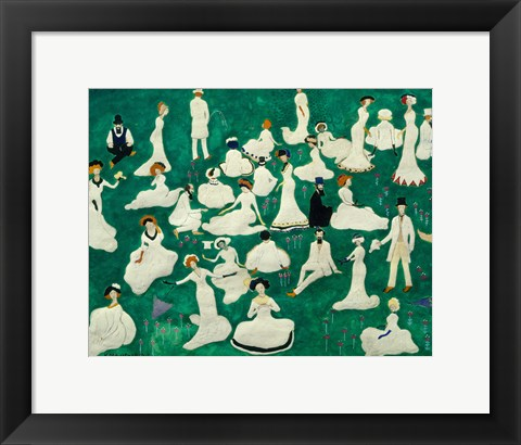 Framed Rest: High Society in Top Hats, 1908 Print