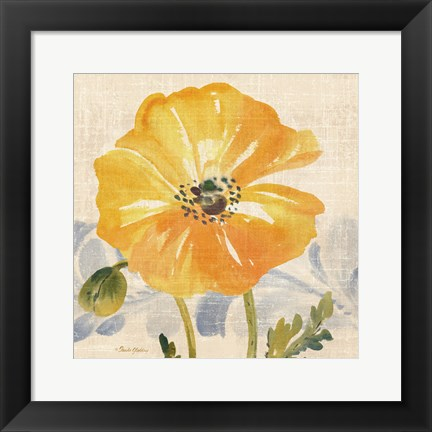 Framed Watercolor Poppies VI Print