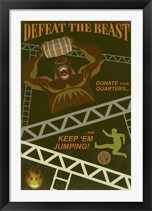Framed Defeat The Beast Print
