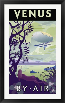 Framed Venus By Air Print