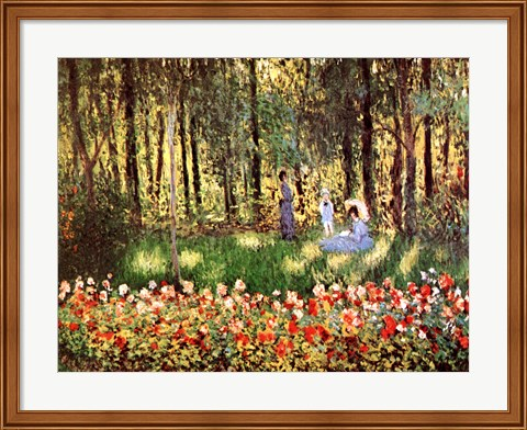 Framed Family in Garden, Argenteuil Print