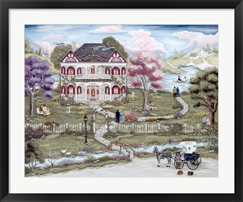 Framed Honeymoon Hideway Hotel Print
