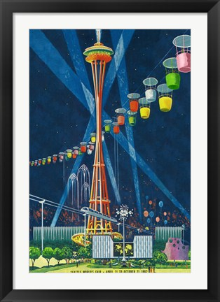 Framed Seattle World's Fair 1962 I Print